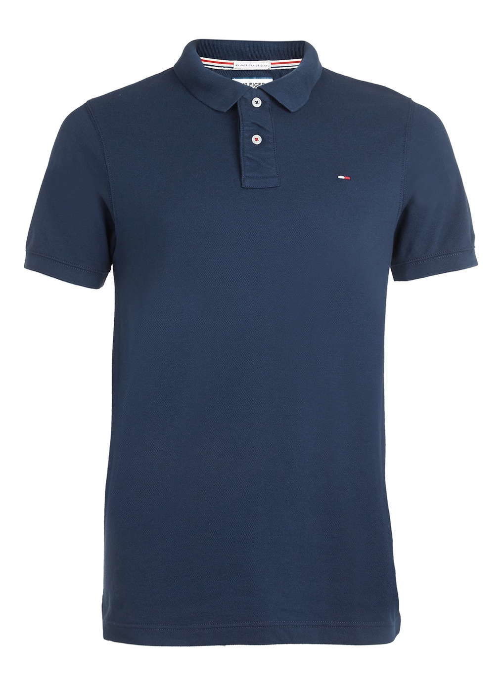 Tommy hilfiger hilfiger denim blue polo shirt in blue for for Polo shirt and jeans