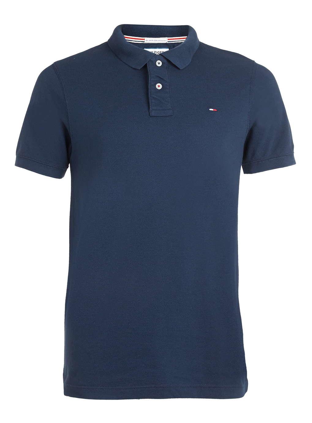 tommy hilfiger hilfiger denim blue polo shirt in blue for. Black Bedroom Furniture Sets. Home Design Ideas