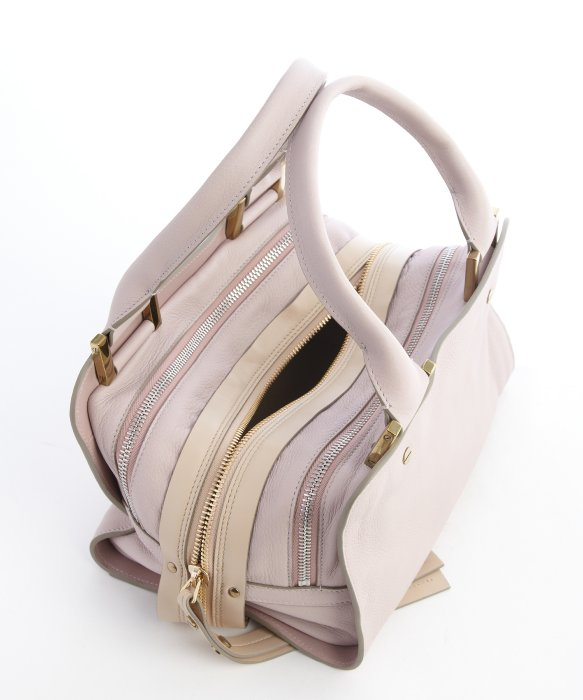 Chlo¨¦ Lilac And Beige Leather Triple Top Zip \u0026#39;dalston Trunk\u0026#39; Bag ...