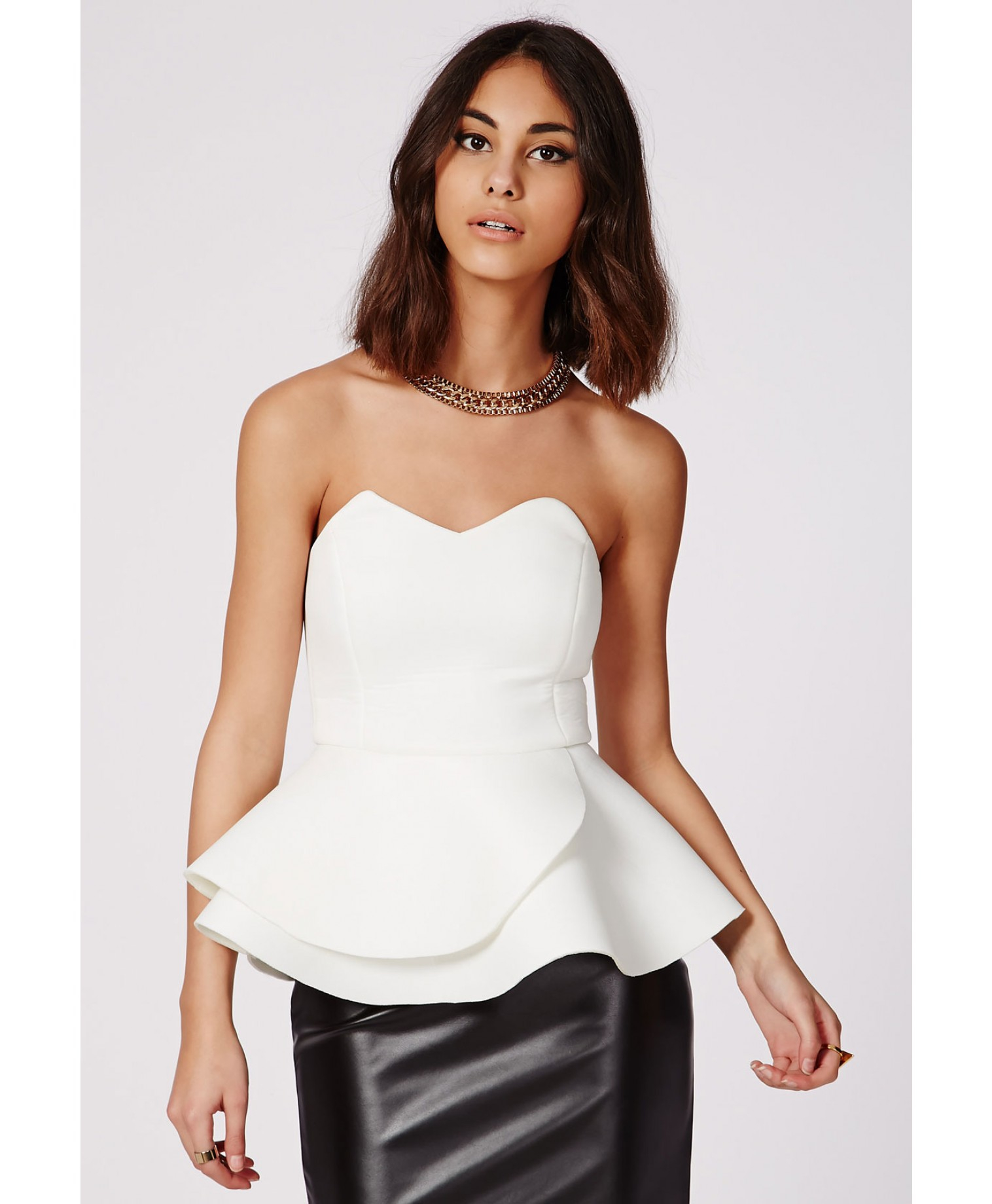 Strapless Peplum Dress