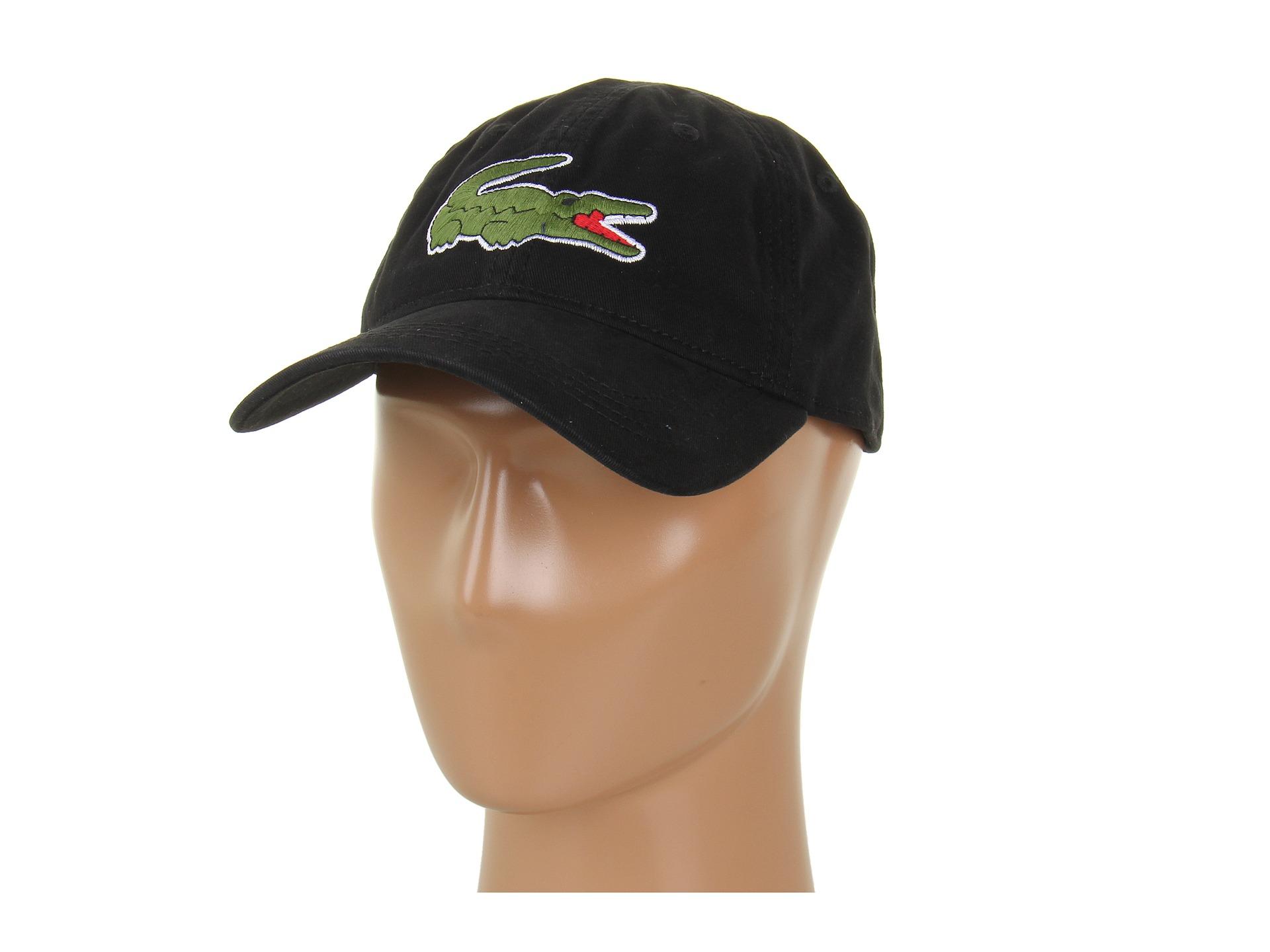 aed9d24271 Lacoste Black Large Croc Gabardine Cap for men