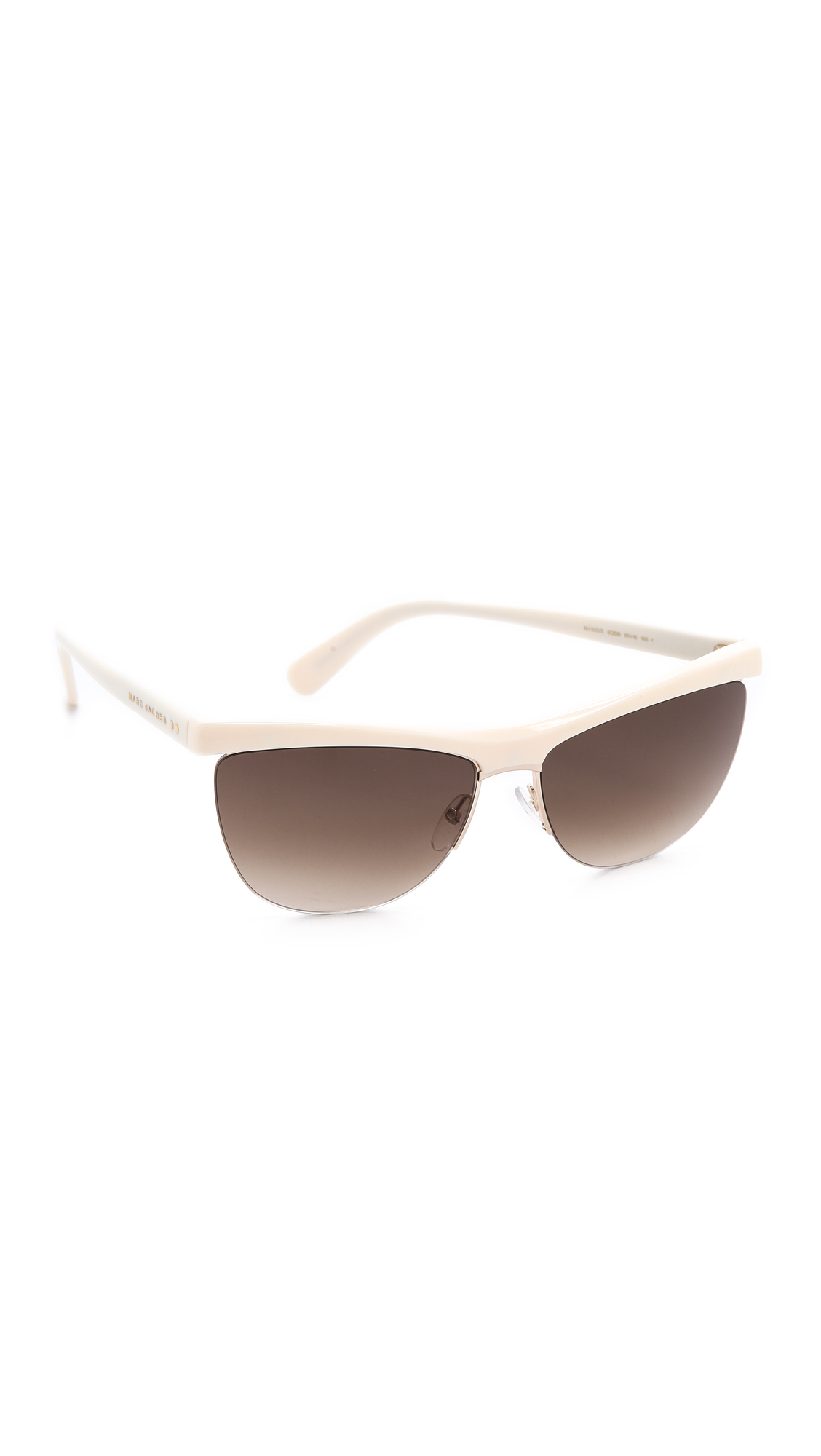 Marc Jacobs Rimless Bottom Sunglasses - Gold/Brown Gradient in Metallic