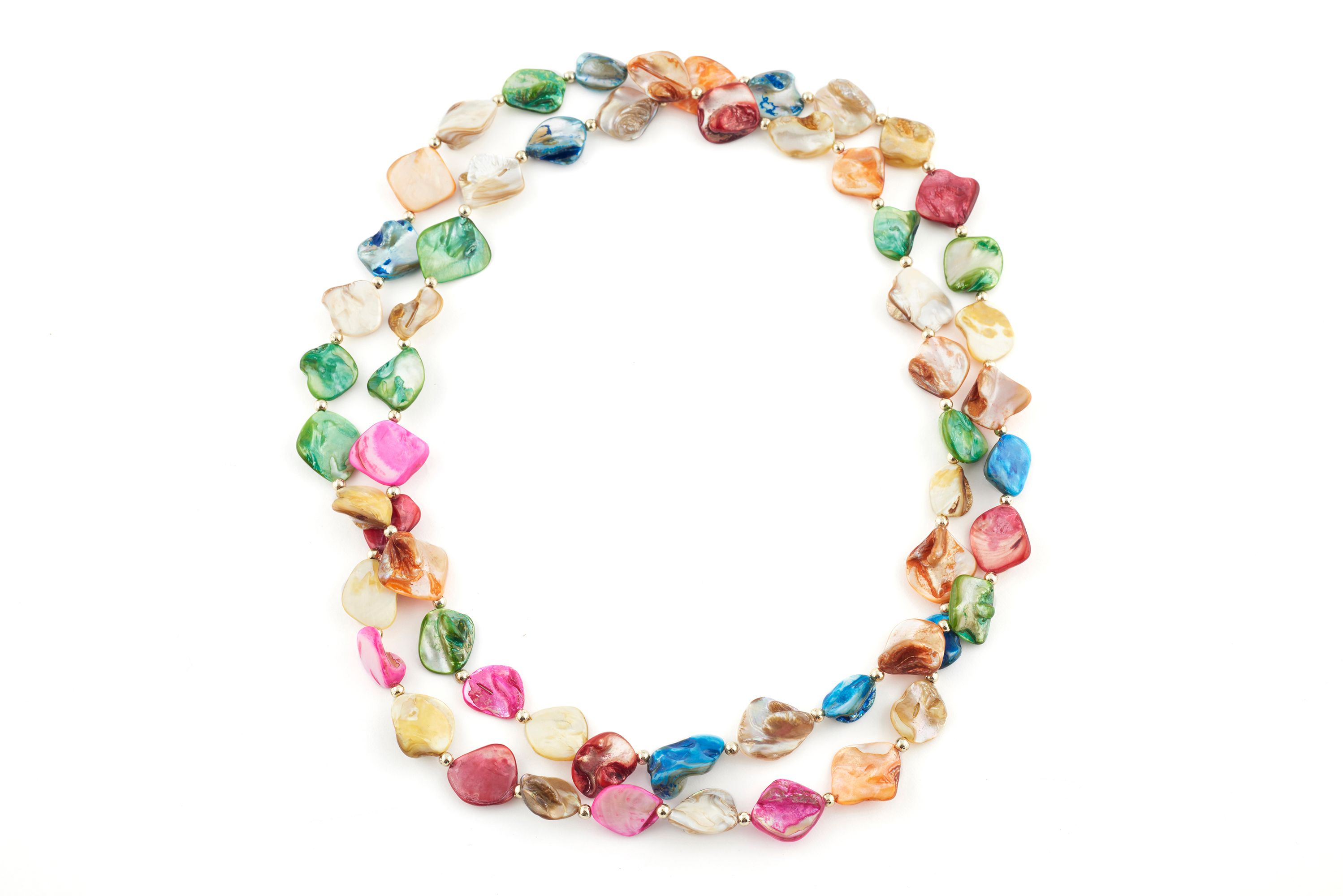 James Lakeland Multi Colour Long Bead Necklace