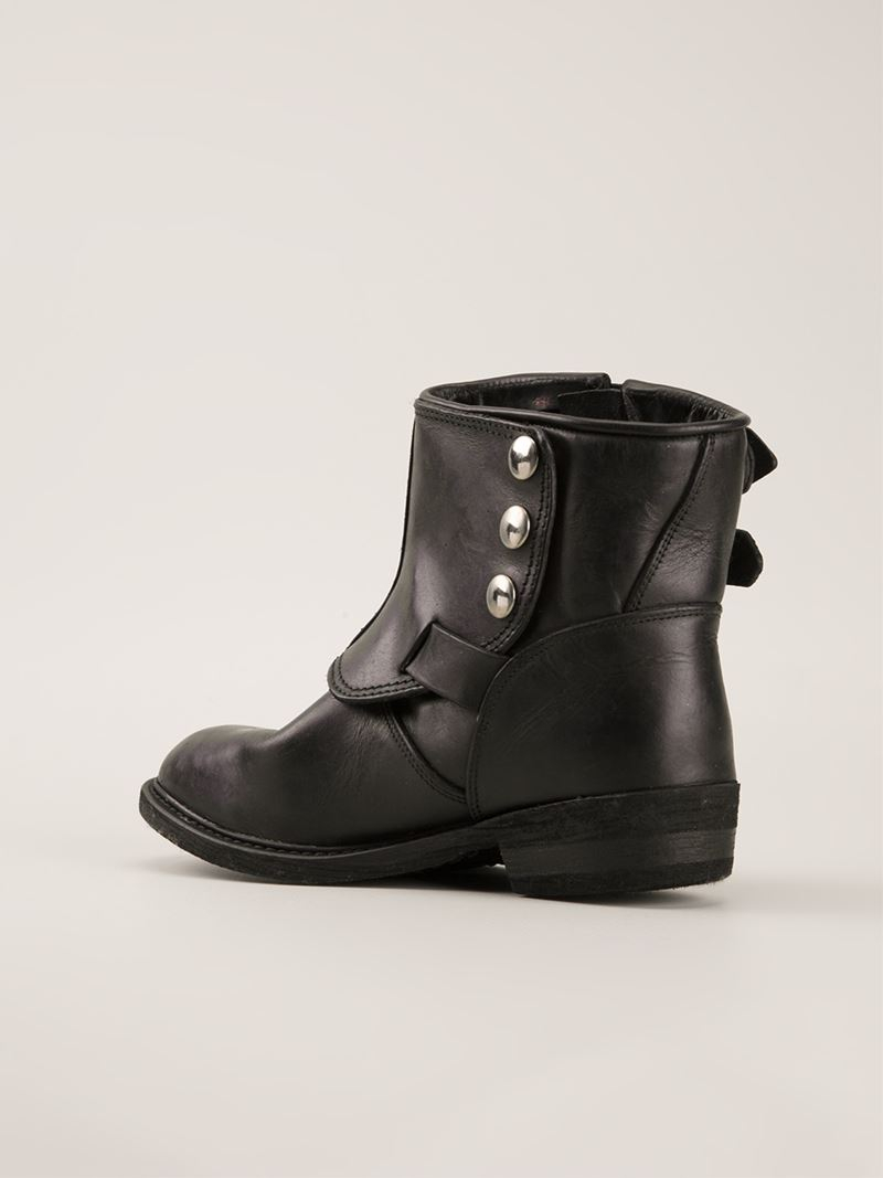 Outlet Countdown Package Cheap Sale Many Kinds Of Golden Goose Leather Buckled Boots Outlet Sneakernews Clearance Genuine Purchase Sale Online 6C5yqQ