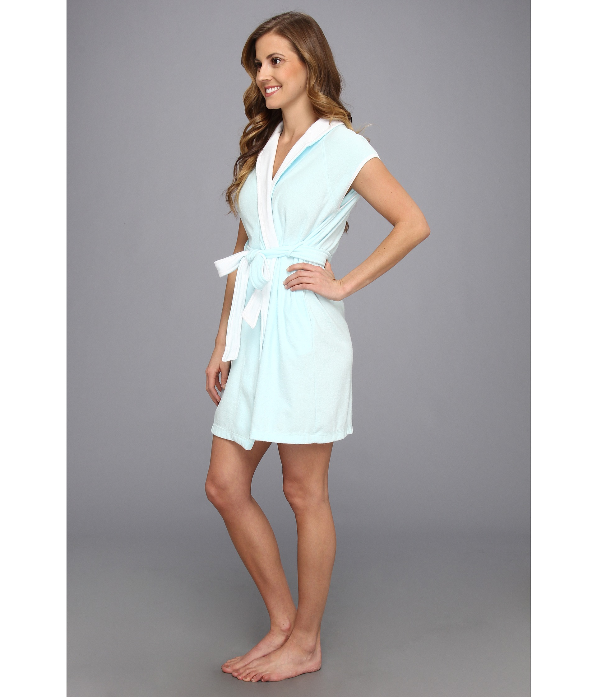 Lyst Betsey Johnson Baby Terry Wifey Bridal Robe in Blue