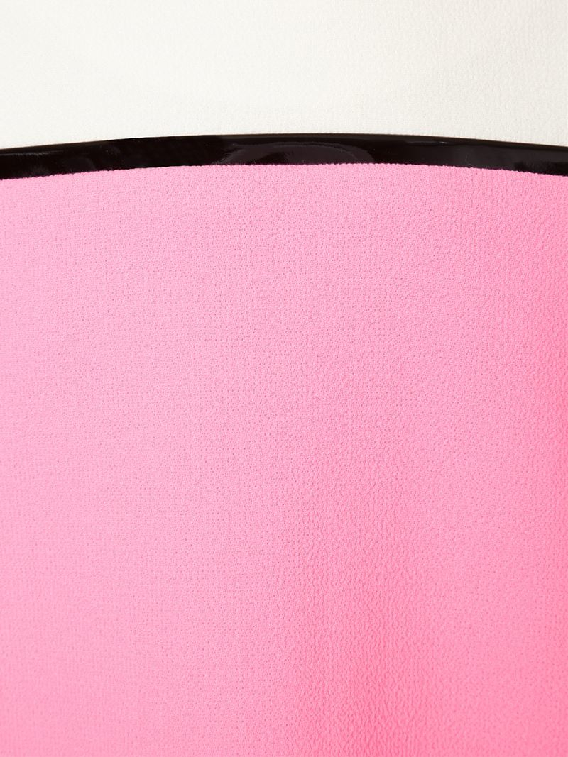 bouchra jarrar colour block shift dress in pink pink purple lyst. Black Bedroom Furniture Sets. Home Design Ideas