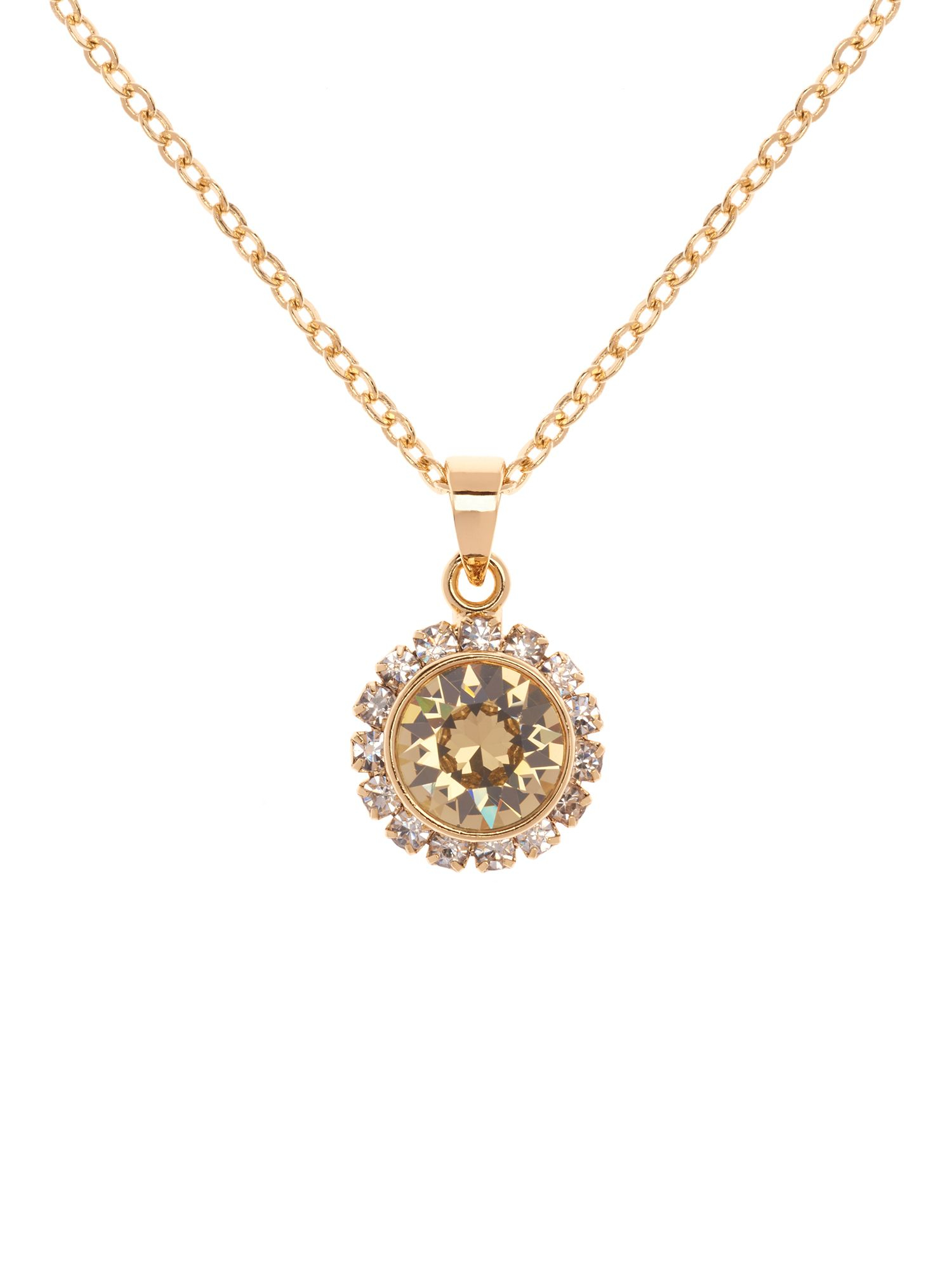 Ted Baker Sela Shadow Crystal Chain Pendant in Gold (Metallic)