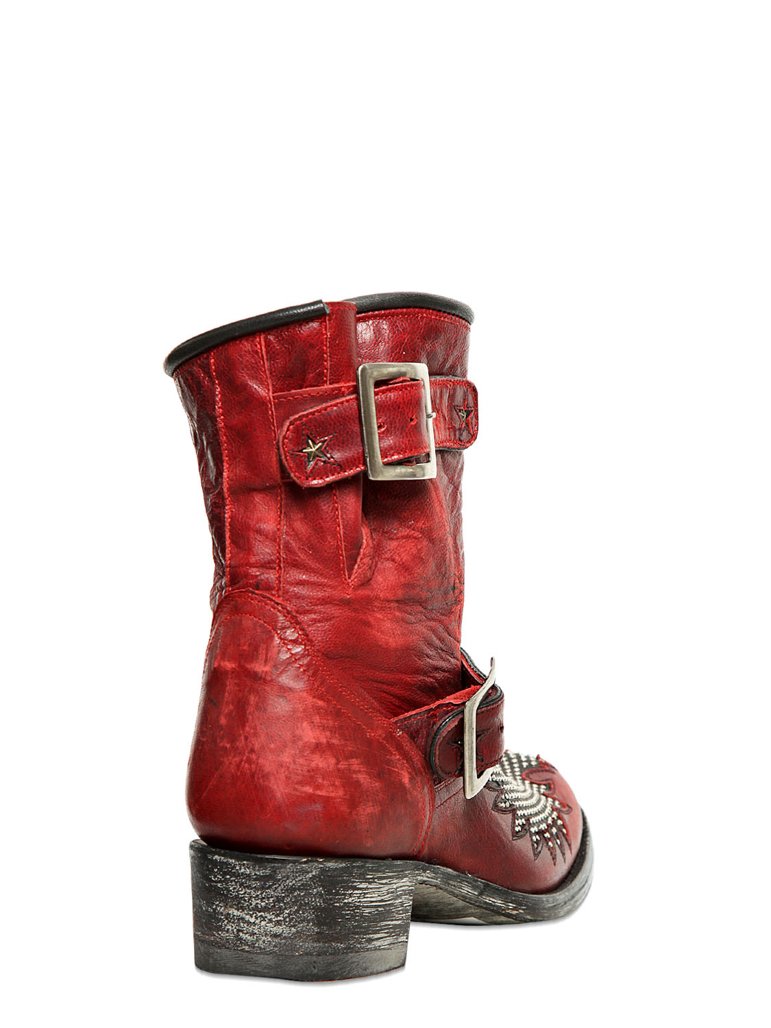 Lyst Mexicana 50mm Iron Eagle Biker Boots In Red