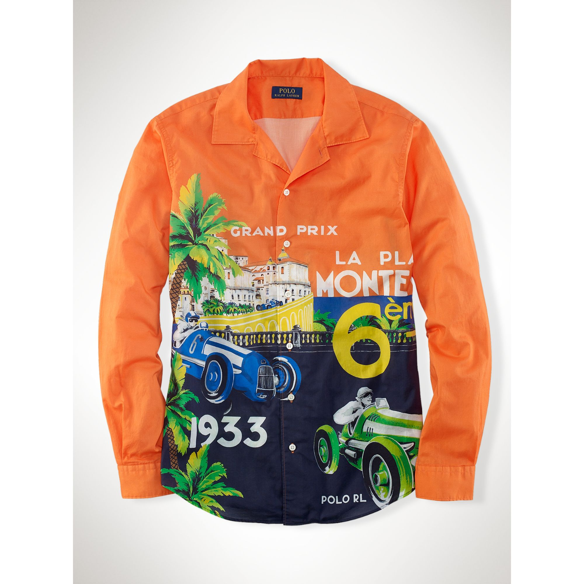 Polo Ralph Lauren Race Car–Print Camp Shirt