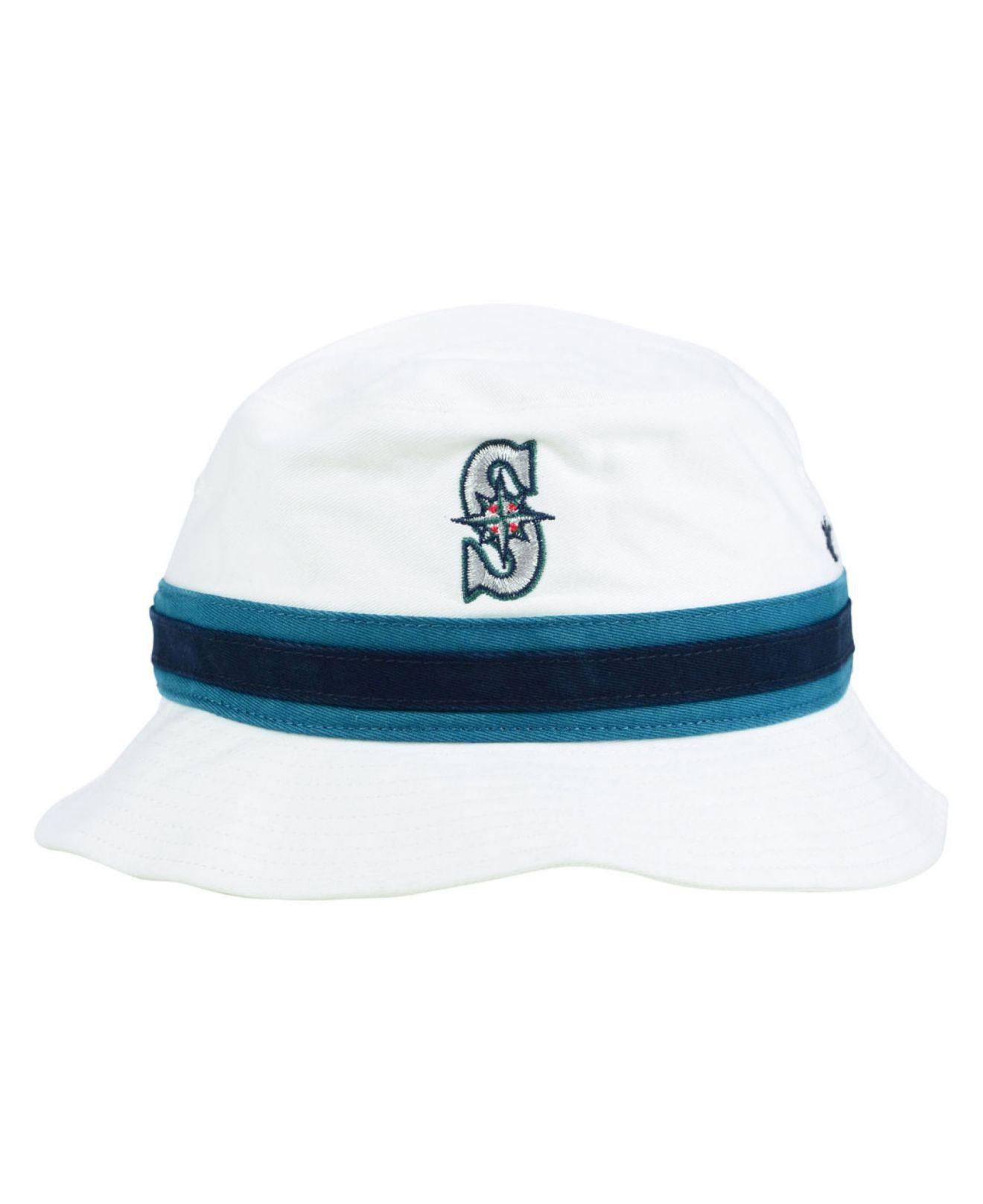 b08905114d9 Lyst 47 Brand Seattle Mariners Striped Bucket Hat In White