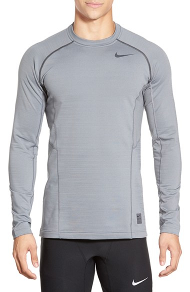 211738f5 Nike 'pro Hyperwarm' Fitted Long Sleeve Dri-fit T-shirt in Gray for ...