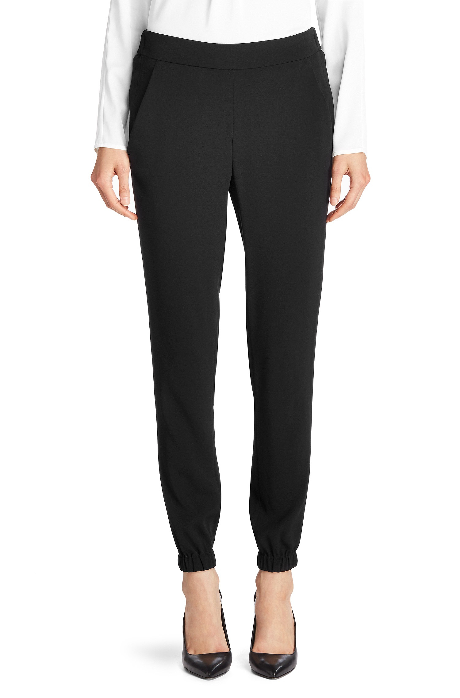 Hugo Synthetic Hathea Stretch Viscose Jogger Pants In