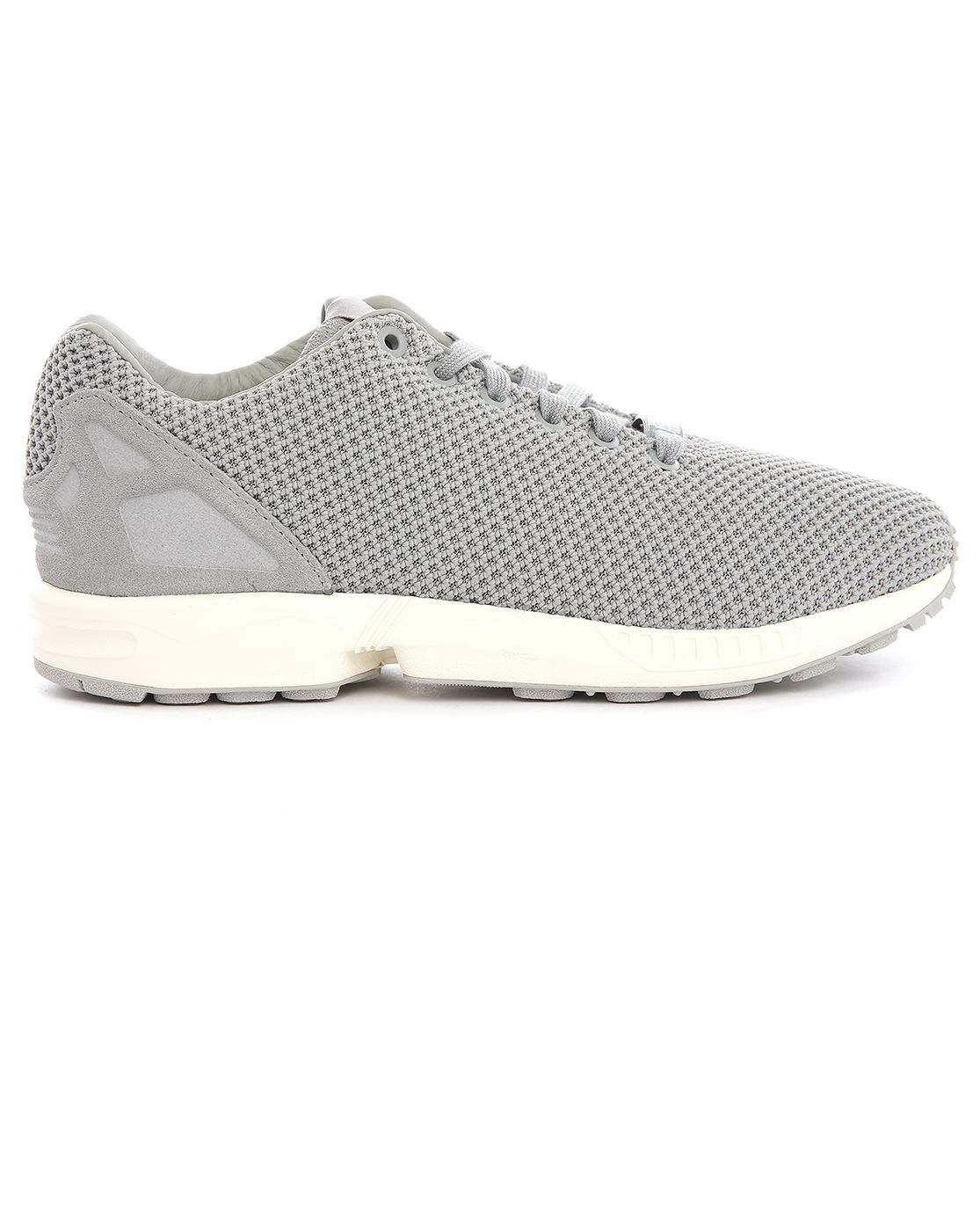 adidas originals zx flux grey mesh sneakers in gray for. Black Bedroom Furniture Sets. Home Design Ideas