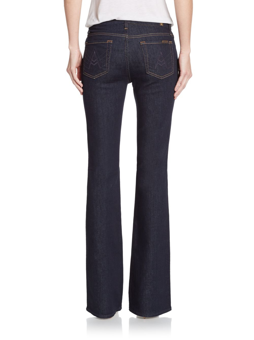 for all mankind a pocket bootcut jeans in blue lyst. Black Bedroom Furniture Sets. Home Design Ideas