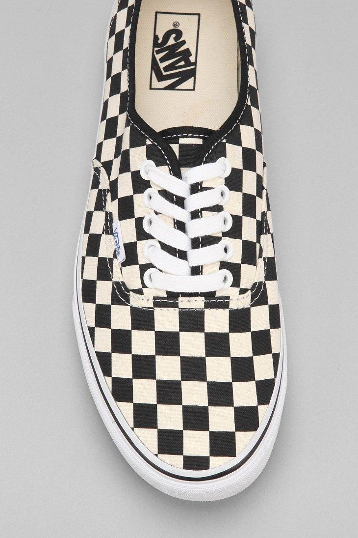 Lyst - Vans Authentic Checkerboard Mens Sneaker in Black for Men 0471b2a8d2
