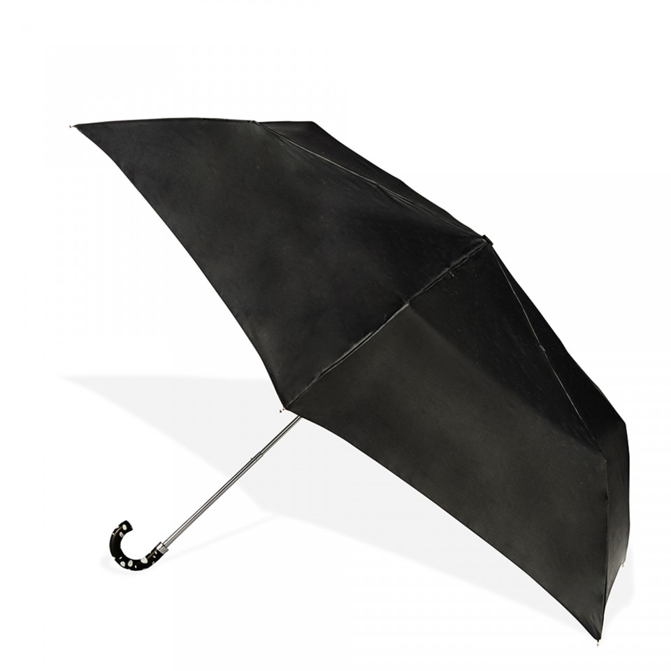 lulu guinness superslim roughly cut out spot umbrella in black lyst