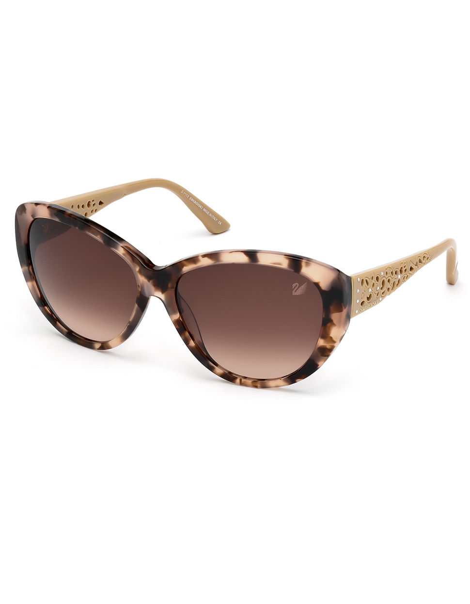 swarovski davina cateye sunglasses in brown lyst