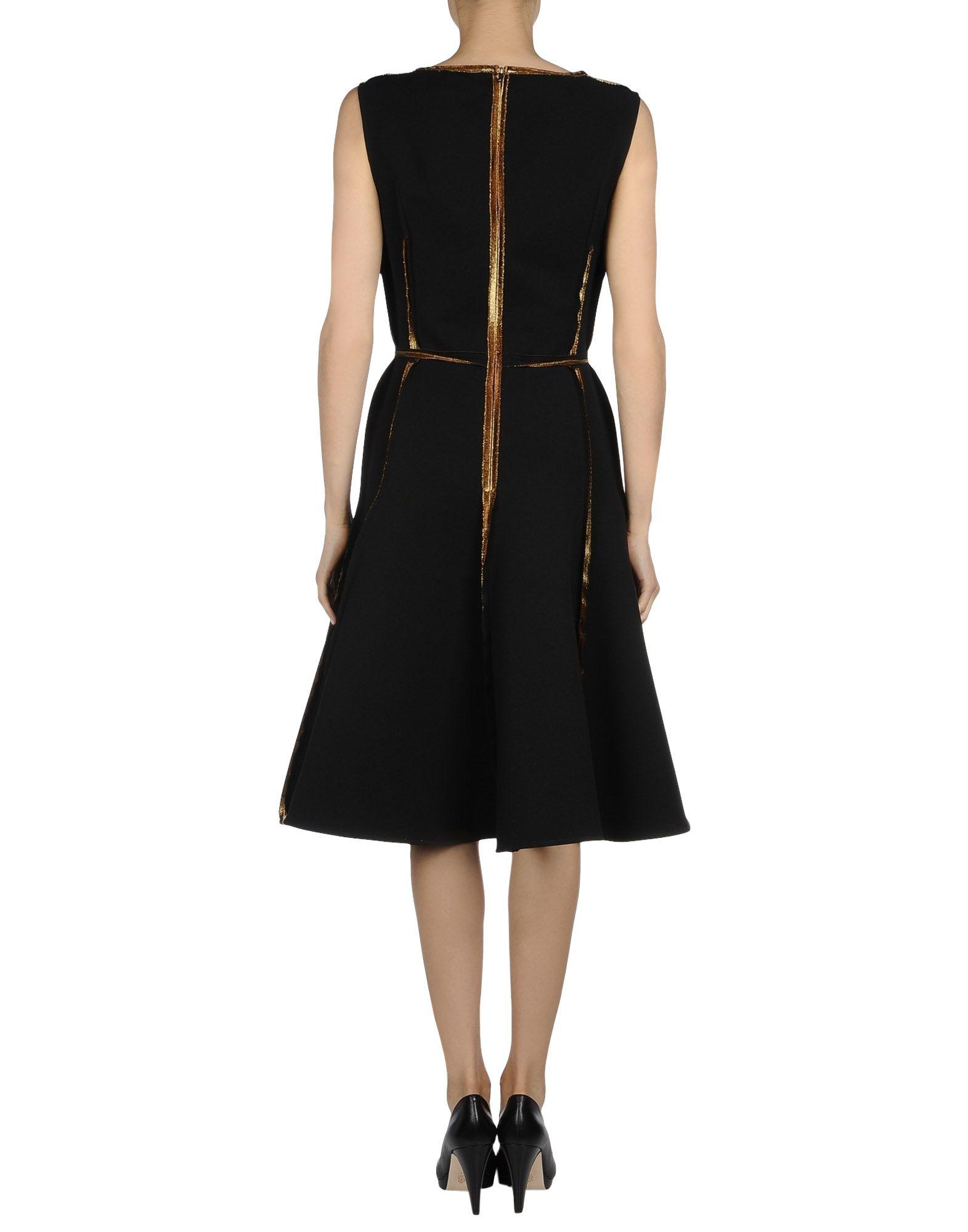 Lanvin black knee length dress casual dresses product 1 25460684 3
