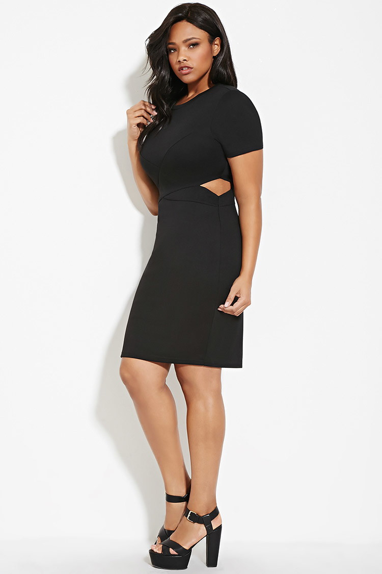 Forever 21 Plus Size Cutout Bodycon Dress in Black   Lyst
