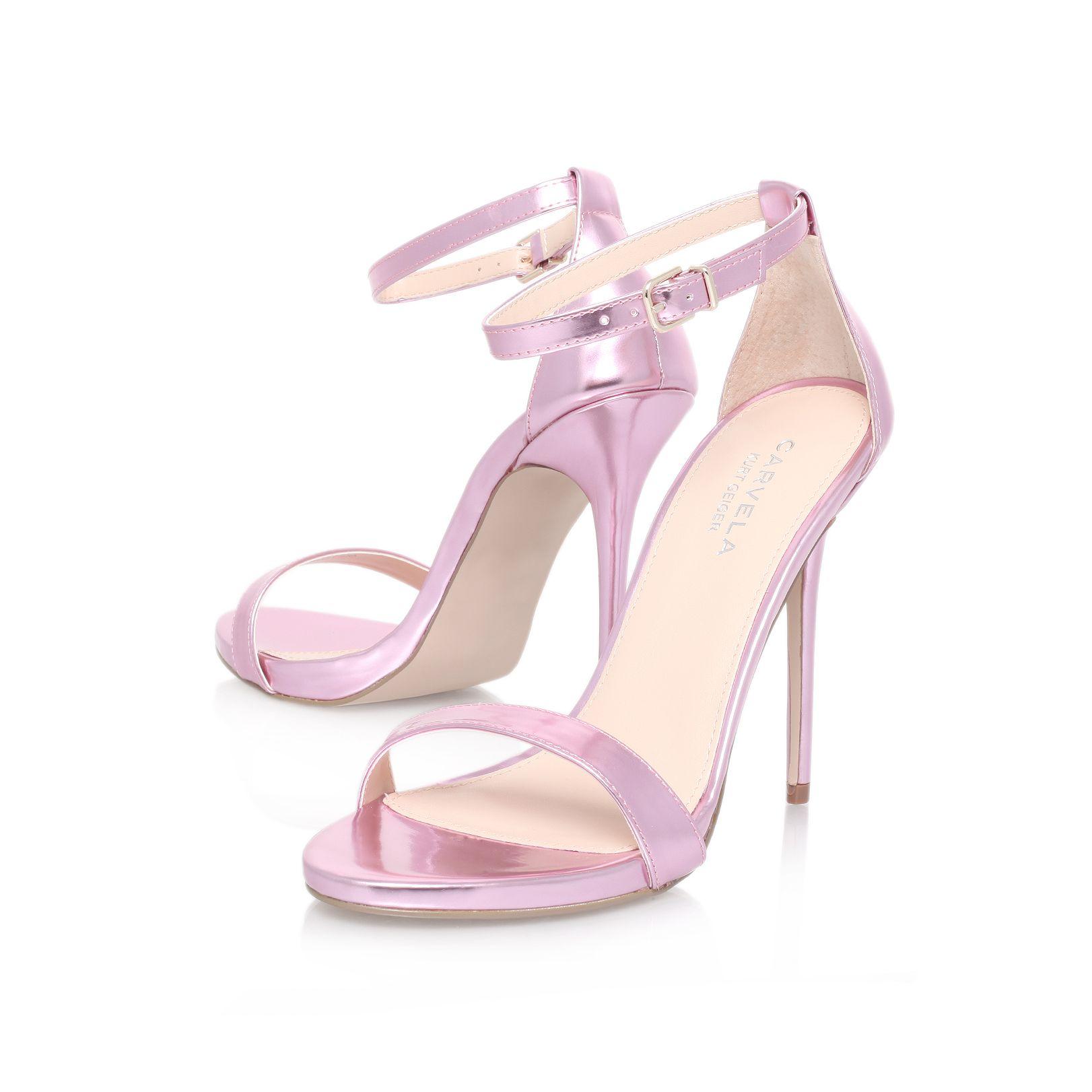 carvela kurt geiger glacier high heel sandals in pink lyst. Black Bedroom Furniture Sets. Home Design Ideas