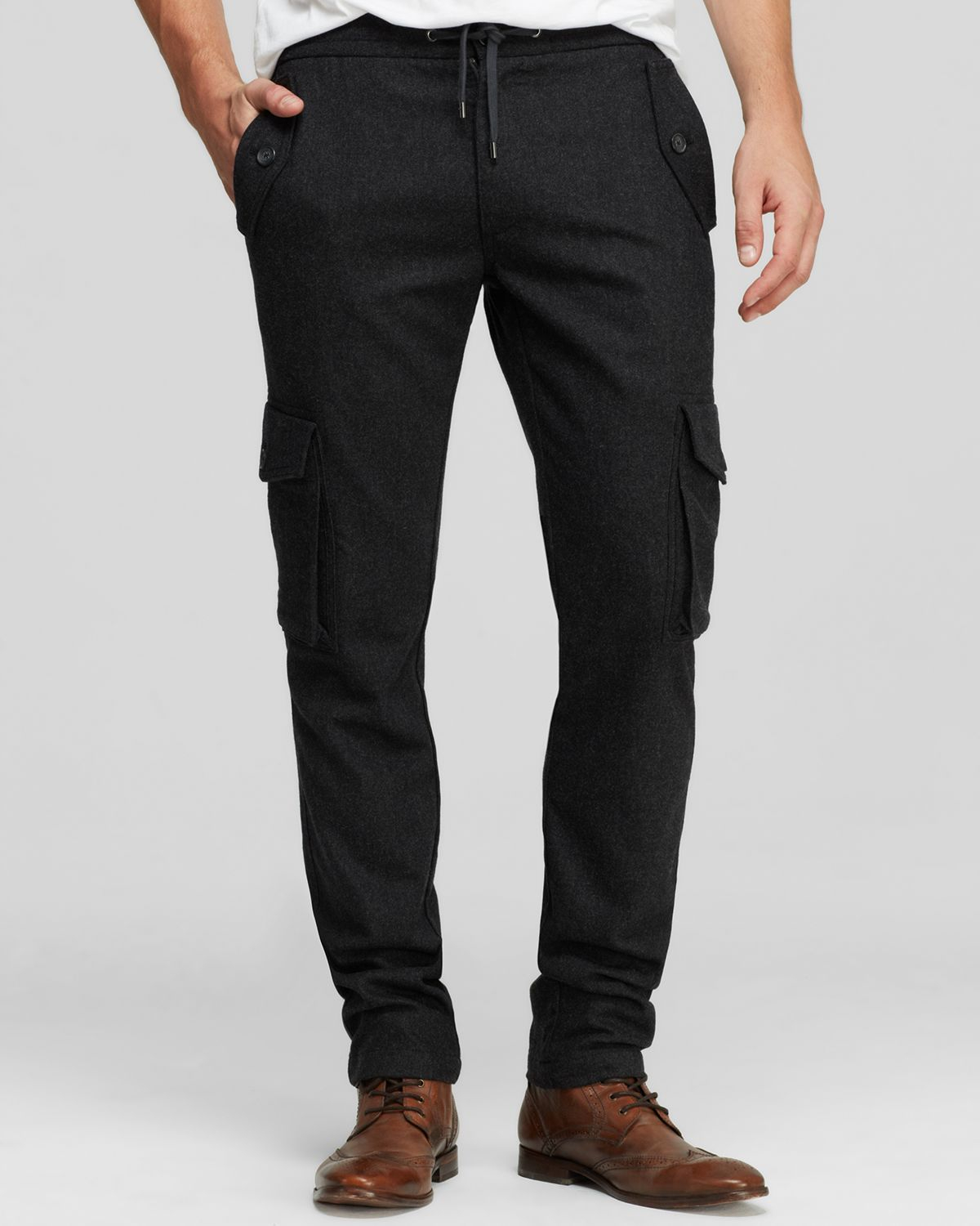 Michael kors Slim Fit Cargo Track Pants in Gray for Men | Lyst