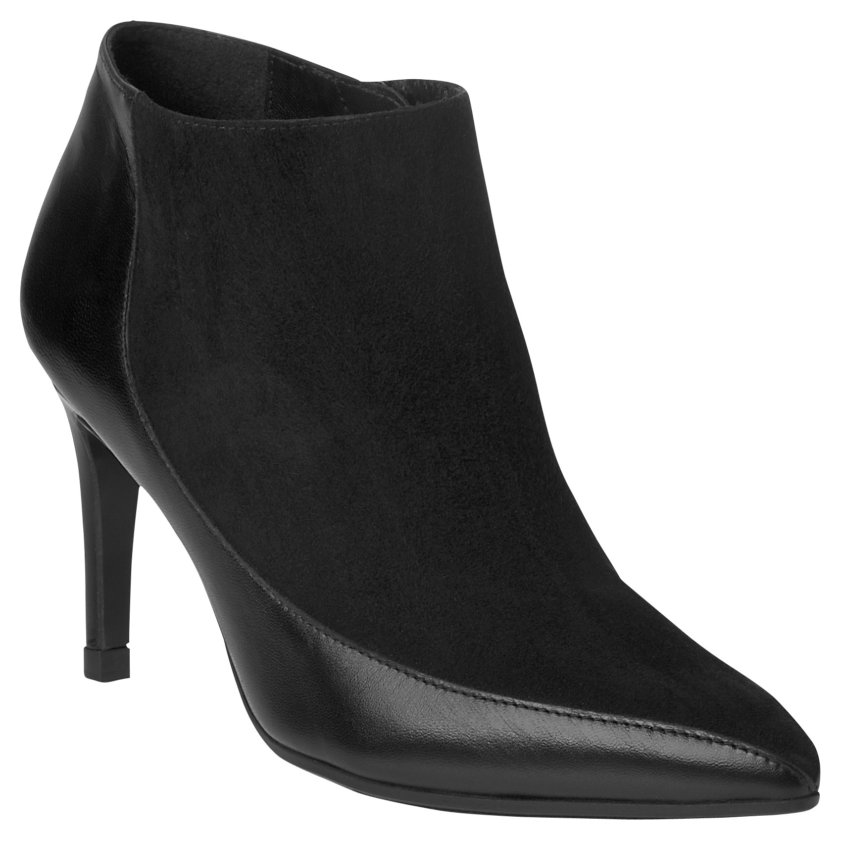 lk amanda suede pointed ankle boots in black lyst