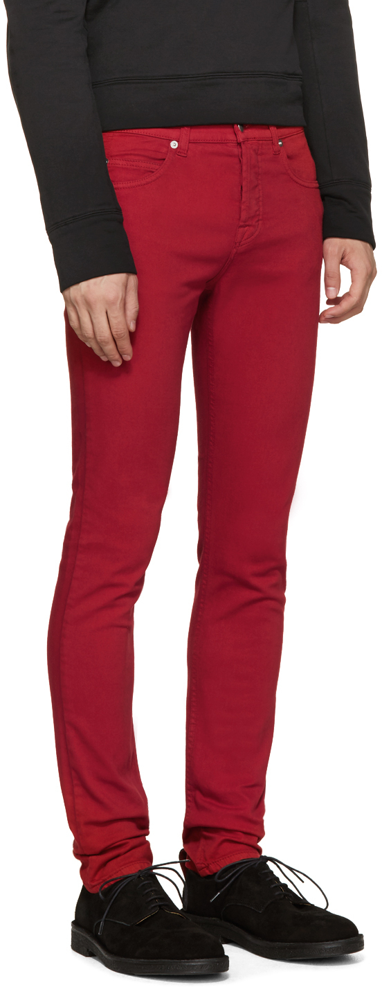 Mcq Red Skinny Jeans in Red for Men | Lyst