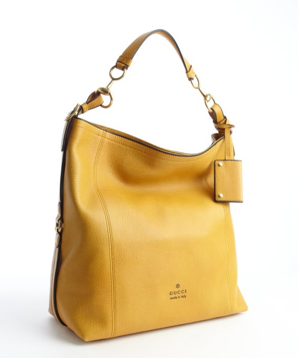 Gucci Ochre Leather Large Hobo Bag in Yellow | Lyst