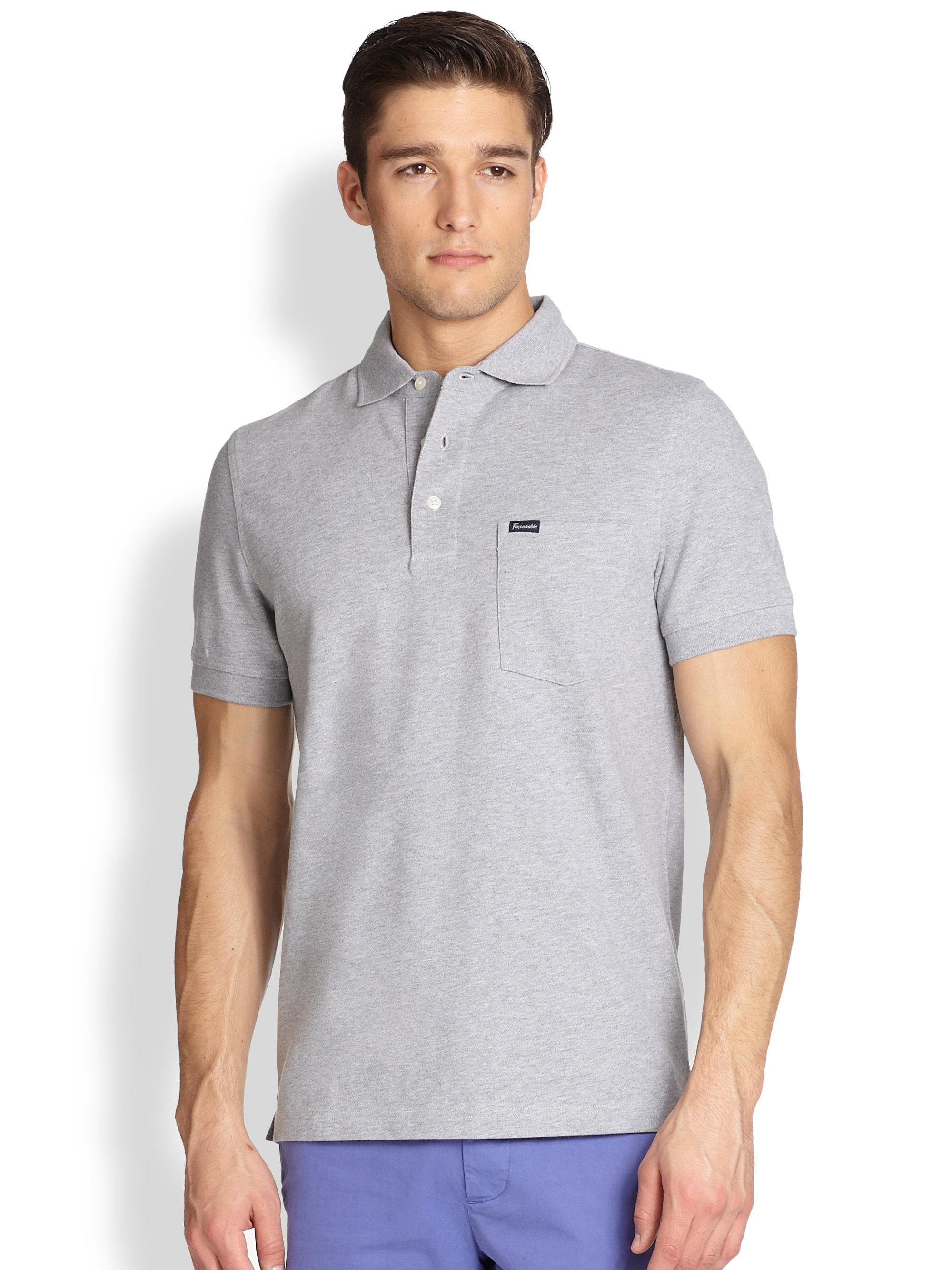 Lyst - Façonnable Pique Polo Shirt in Gray for Men 2148a31b1e40