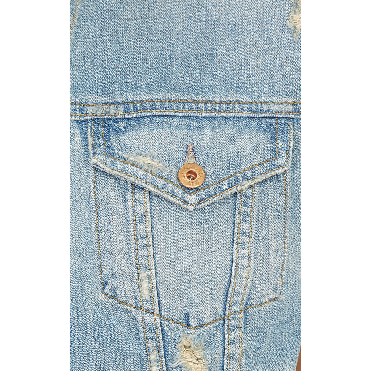 Nsf Clothing Combo Distressed Denim Vest In Blue Lyst