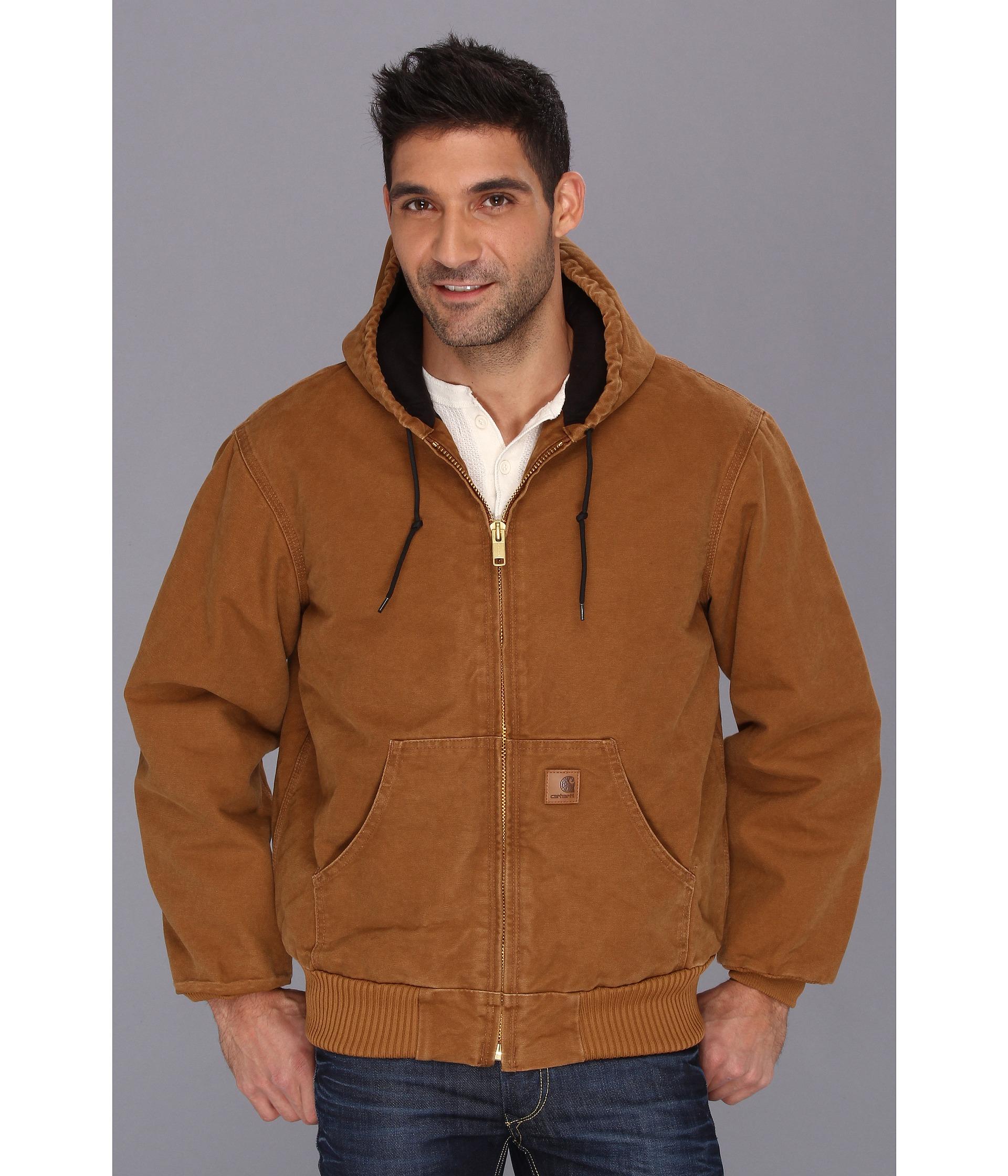 Carhartt Qfl Sandstone Active Jacket In Brown For Men Lyst