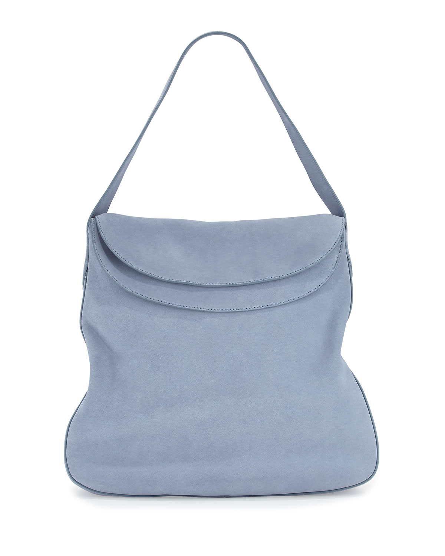 prada handbags com - Prada Suede Doubled Flap-top Medium Hobo Bag in Brown | Lyst