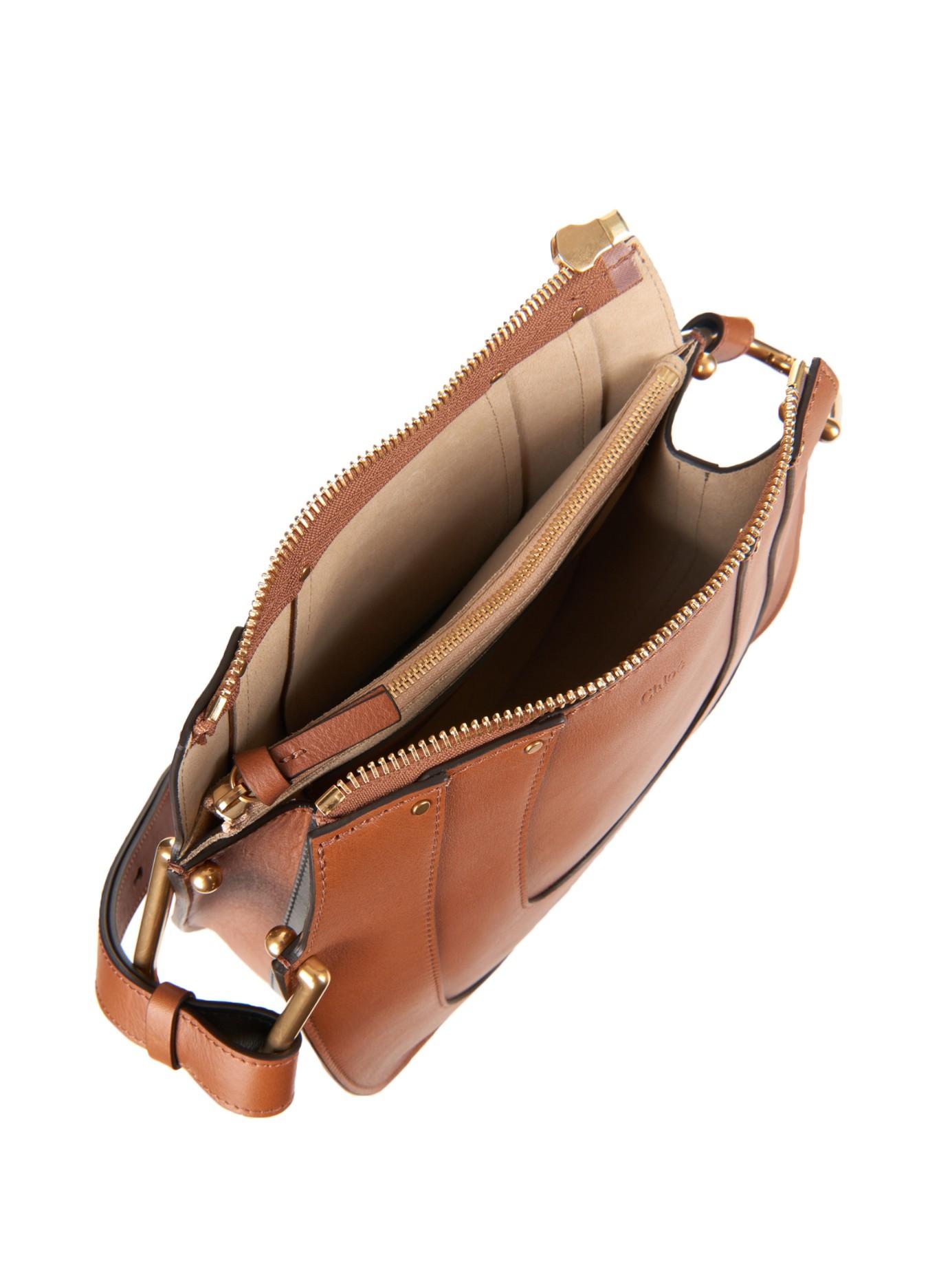 Chlo�� Hayley Hobo Leather Shoulder Bag in Brown (TAN) | Lyst