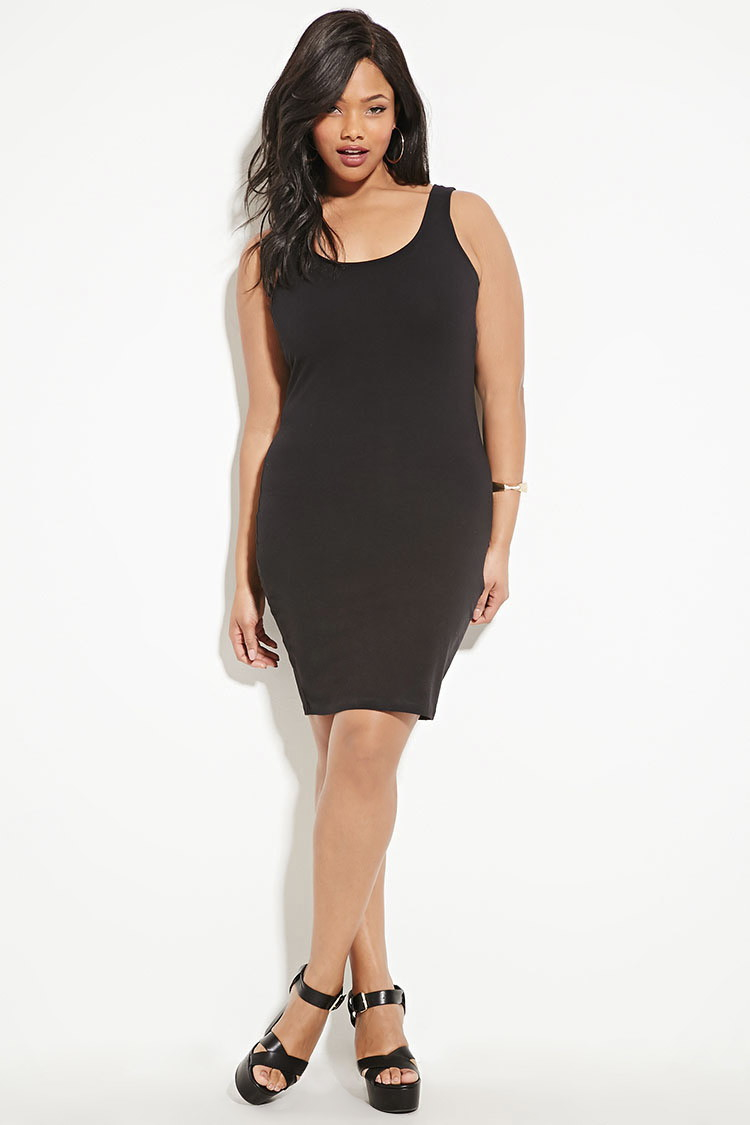 Forever 21 Black Plus Size Bodycon Dress