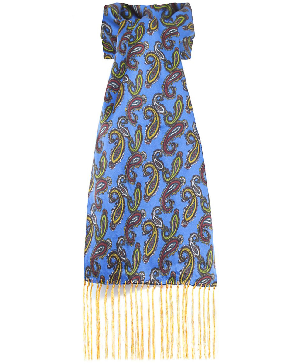 tootal silk paisley scarf in purple lyst