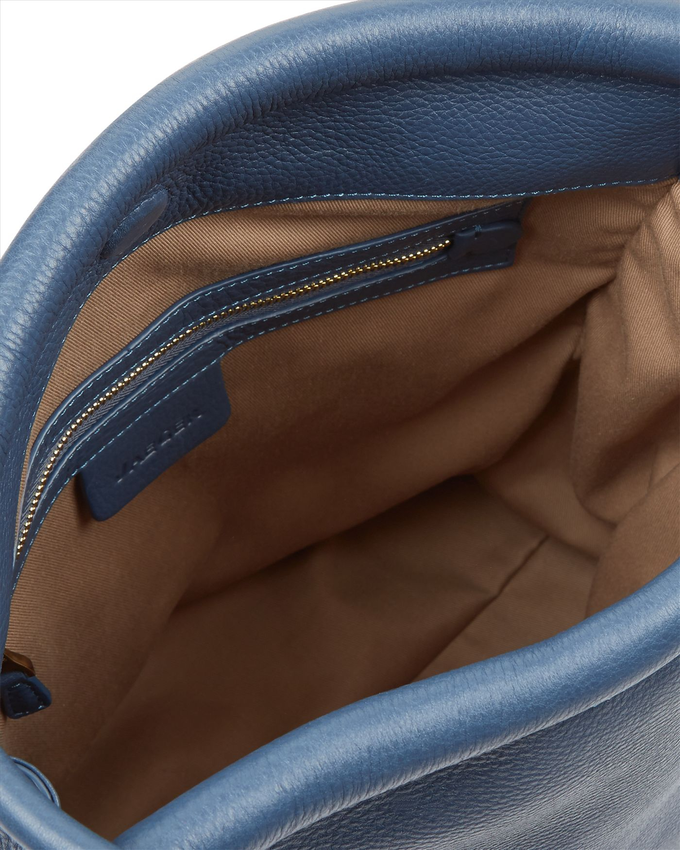 Jaeger Hart Leather Hobo Bag in Steel Blue (Blue)