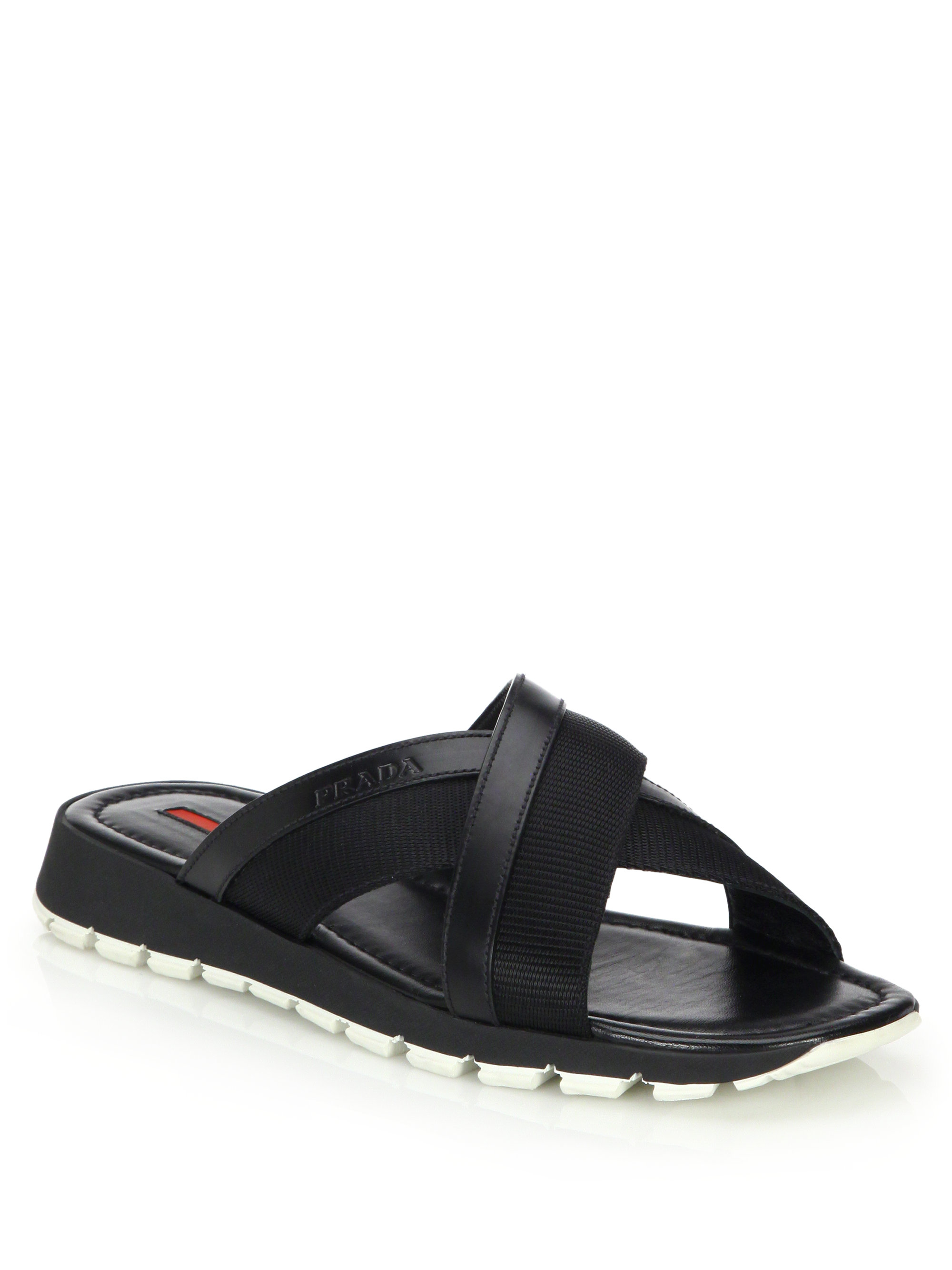 crossover sandals - Black Prada E99DP