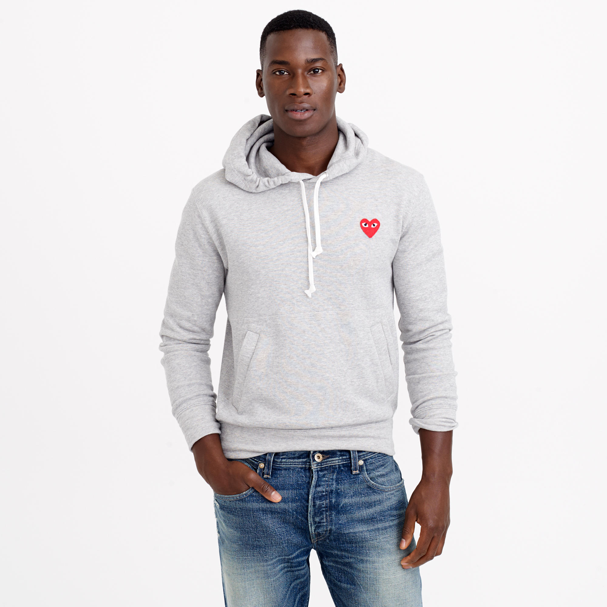 play comme des gar ons hoodie in gray for men lyst. Black Bedroom Furniture Sets. Home Design Ideas
