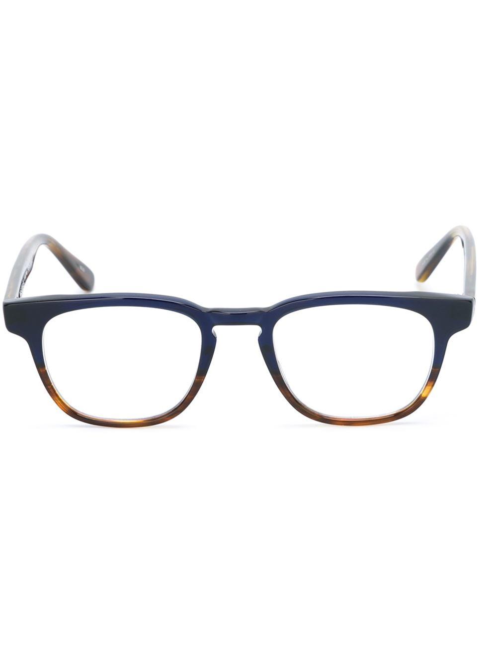 masunaga contrast optical glasses in blue for lyst