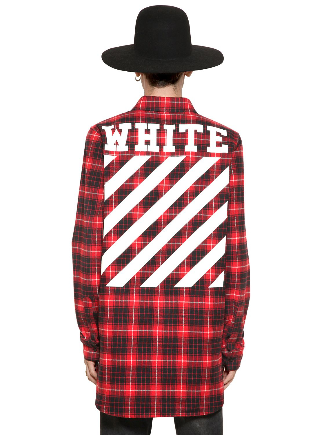 01939d186b41 Lyst - Off-White c o Virgil Abloh Plaid Cotton Flannel Shirt in Red ...