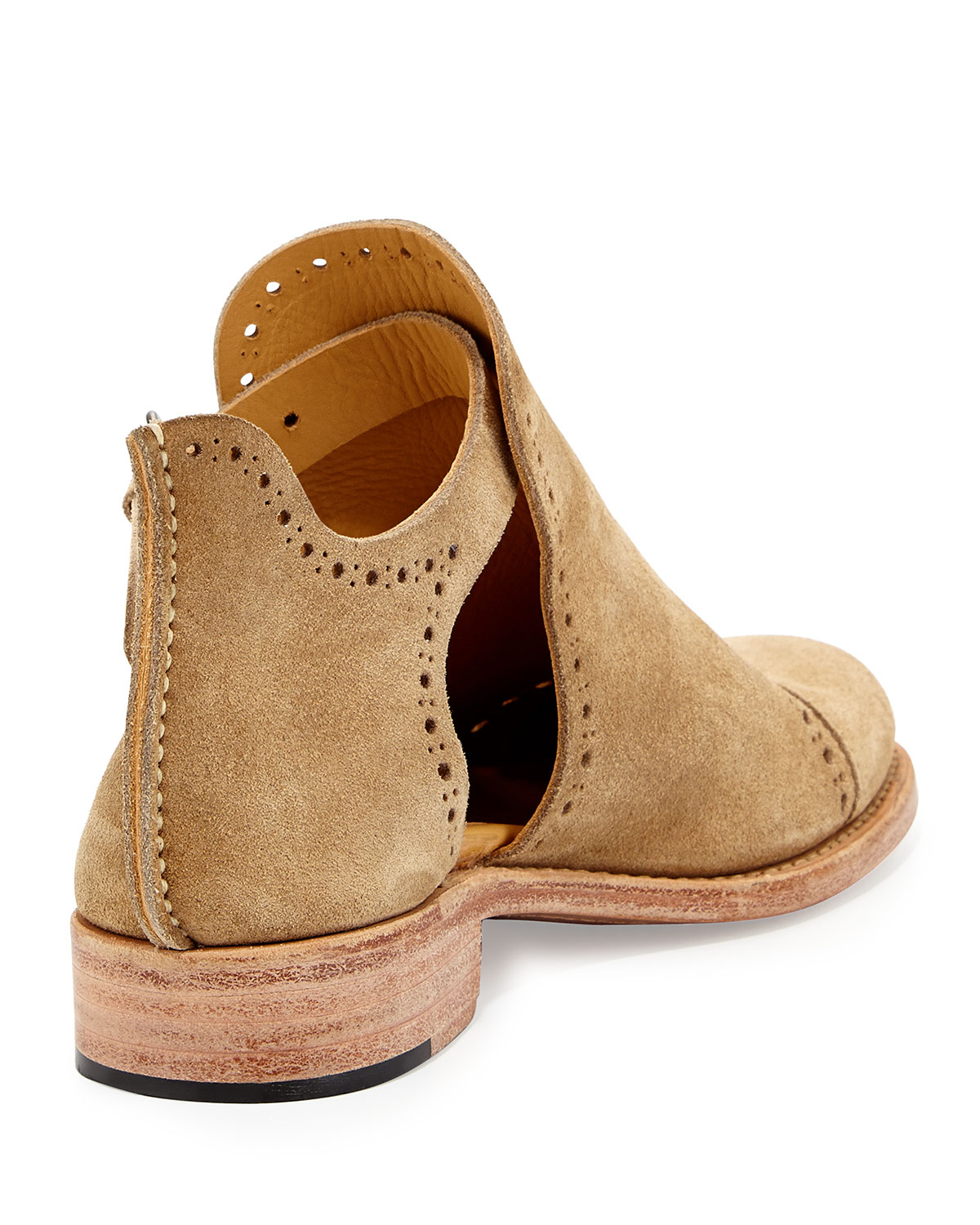 The Office Of Angela Scott Suede Cutout Desert Boot In