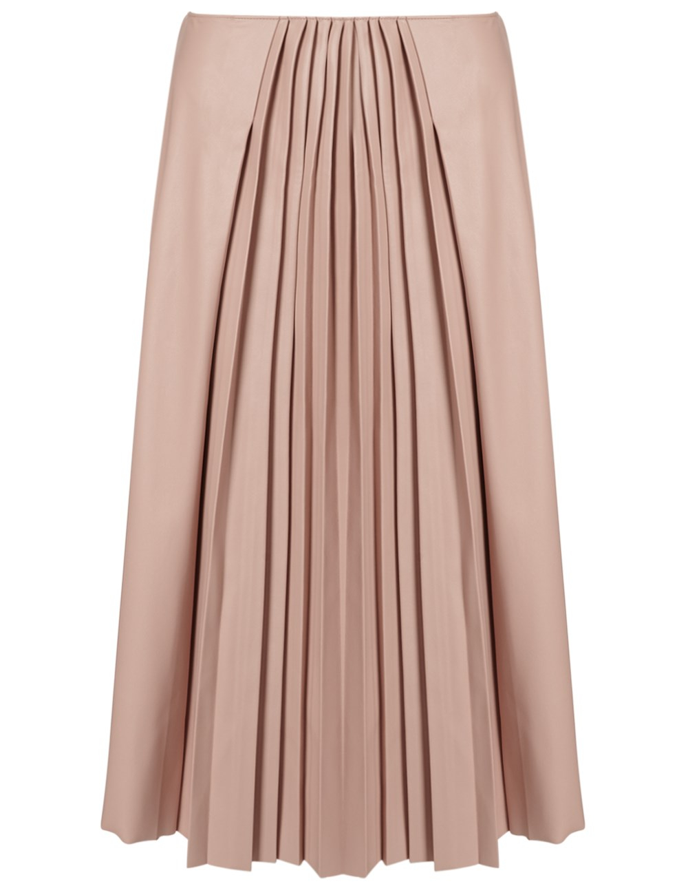 cedric charlier faux leather pleated skirt in pink lyst