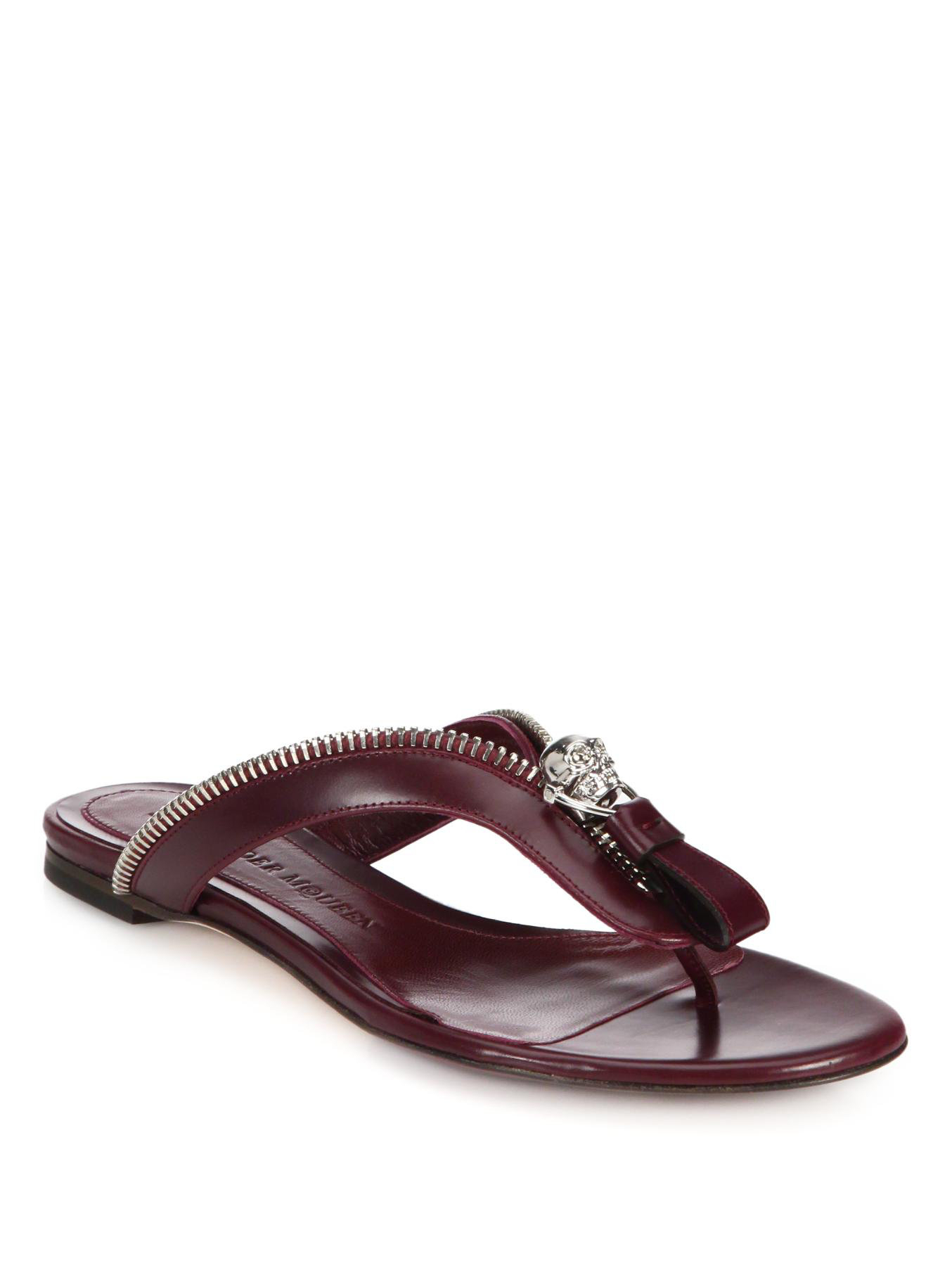 outlet 2014 new newest Alexander McQueen Embossed Leather Sandals view online cheap low shipping XEWUnKzOsk