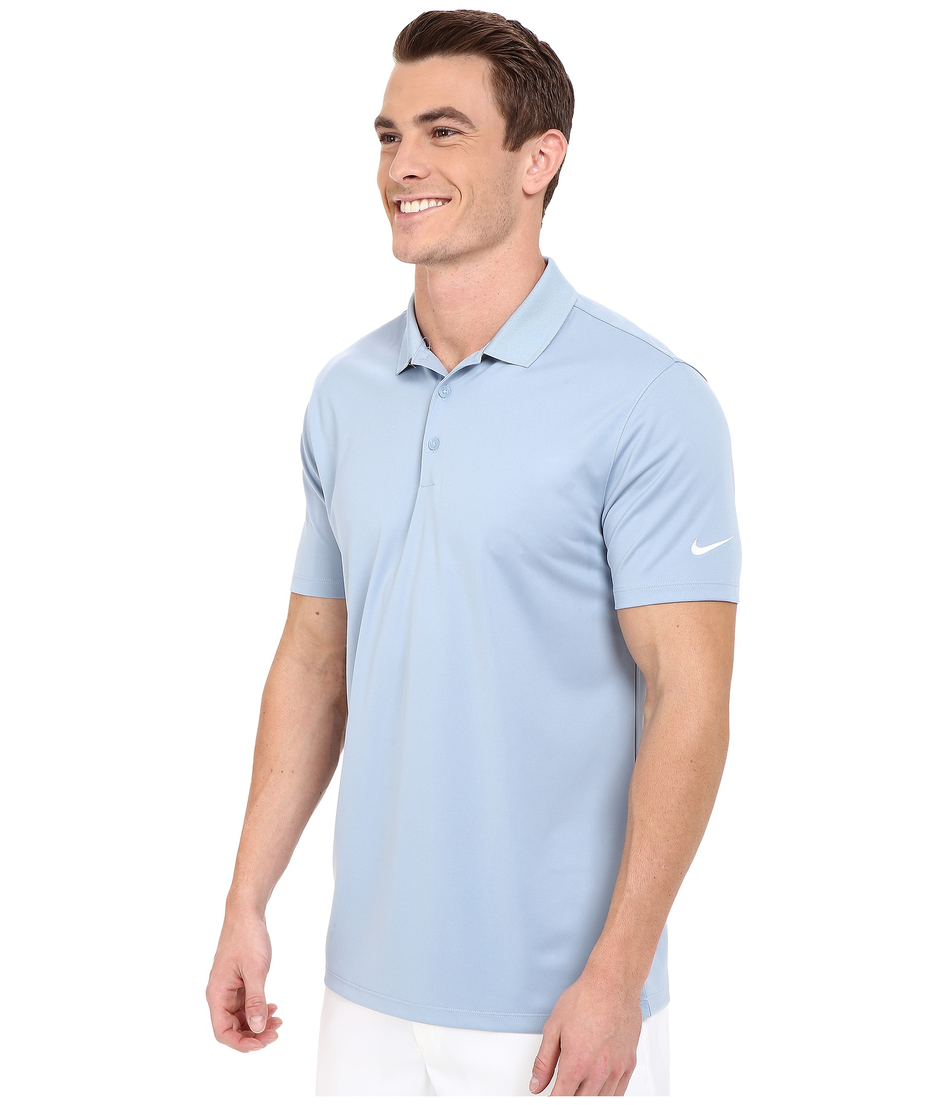 e2a3f8ec Nike Victory Solid Polo in Blue for Men - Lyst