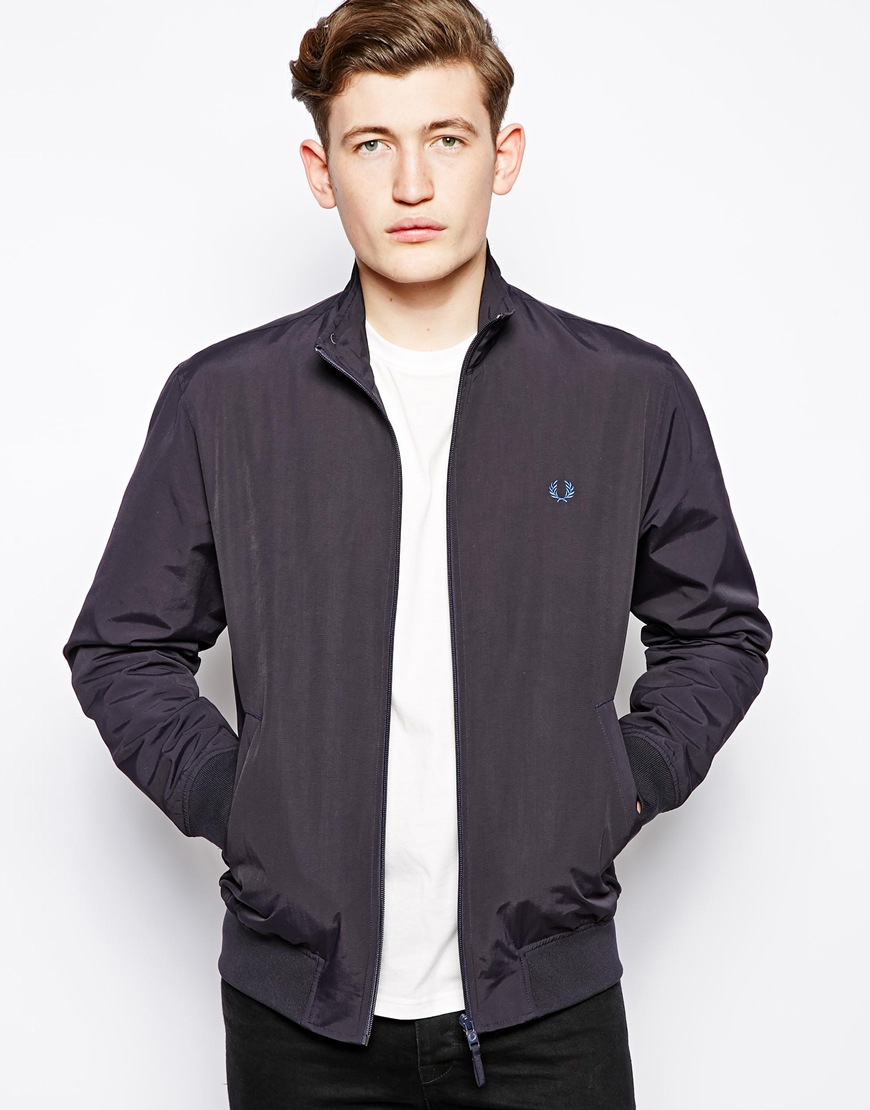 lyst fred perry sailing jacket in blue for men. Black Bedroom Furniture Sets. Home Design Ideas