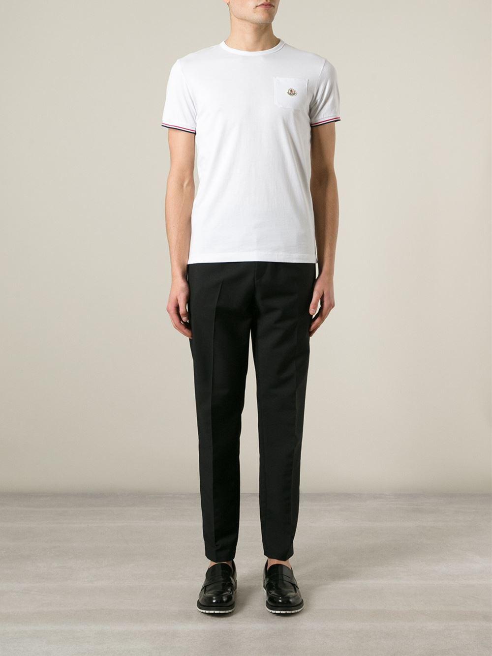 e185f55f5 Moncler Crew-Neck T-Shirt in White for Men - Lyst