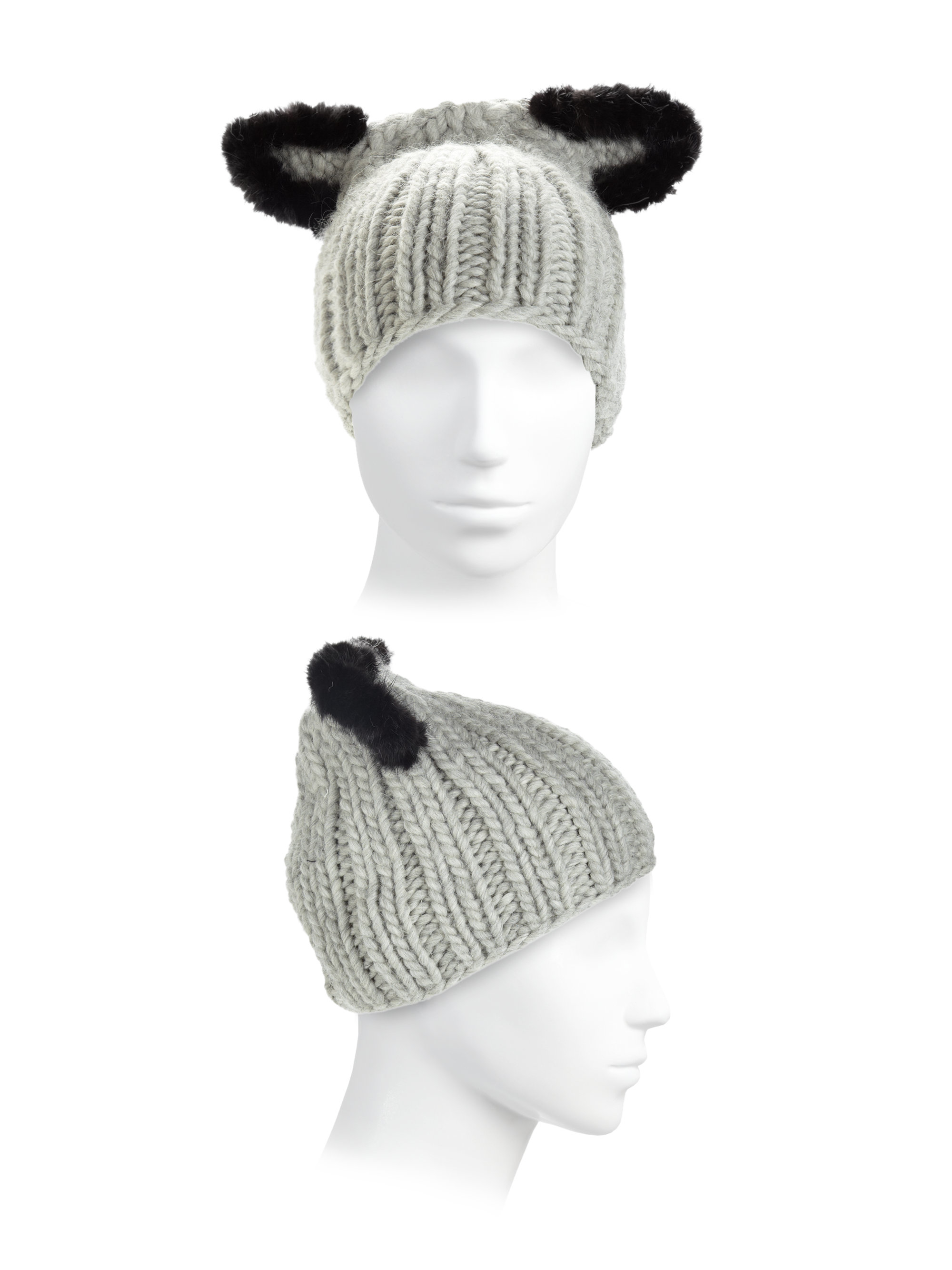 97c0ebe9c5dd9 Lyst - Eugenia Kim Felix Fur-trim Cat-ear Skull Cap in Black