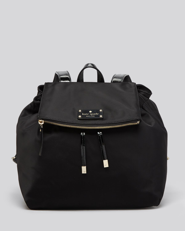 lyst kate spade new york backpack nylon patten in black. Black Bedroom Furniture Sets. Home Design Ideas