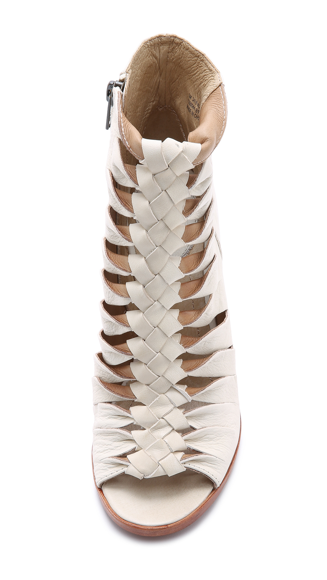 Frye Sofia Braided Booties - Off White in Natural