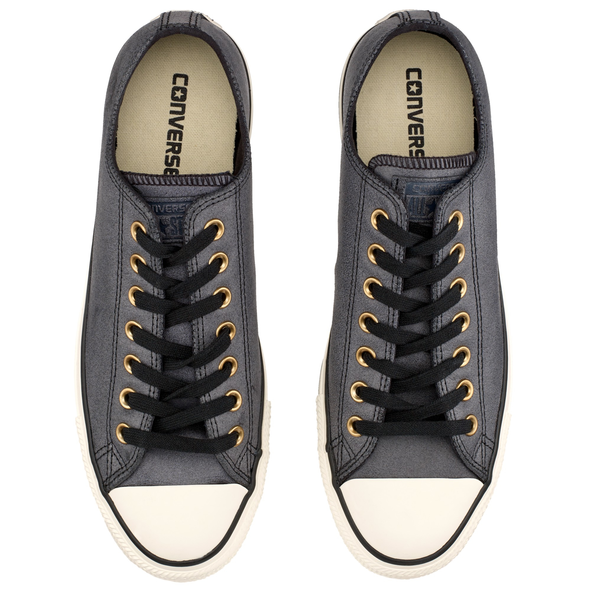 Converse Star Player Canvas Trainers in Black (Grey) for Men